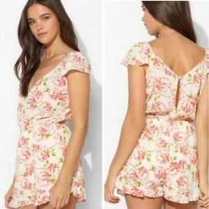 Urban Outfitters Pins and Needles Roses Romper…